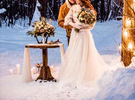 winter wedding Stock Photo