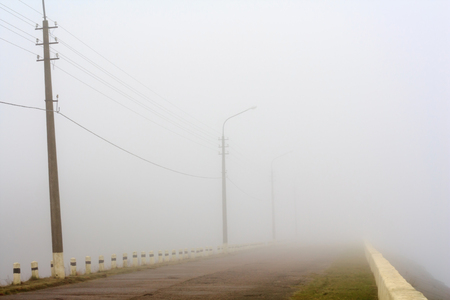 non marking: road with fog
