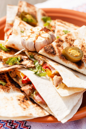 cruda: tortilla with vegetables Stock Photo