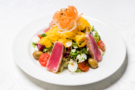 ahi: salad with tuna Stock Photo