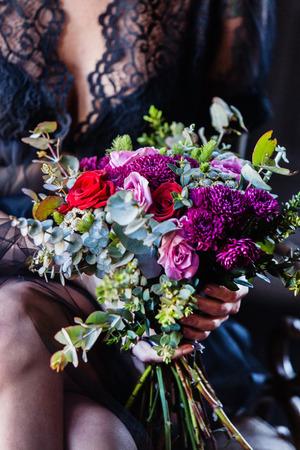 peignoir: nice women with flowers