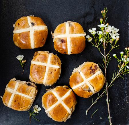 sultana: hot cross buns Stock Photo