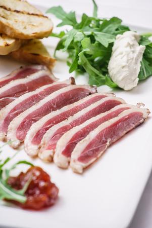 non vegetarian: meat apptizer Stock Photo