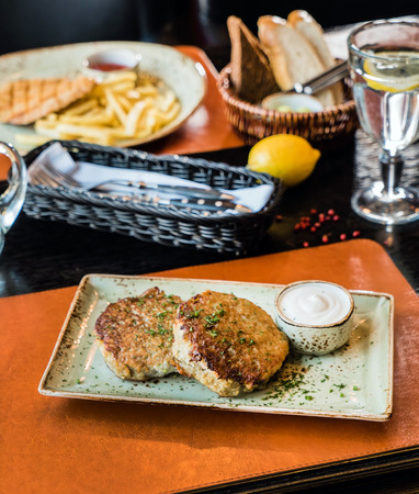 cutlets: fried cutlets Stock Photo