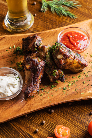 real ale: grilled ribs with beer