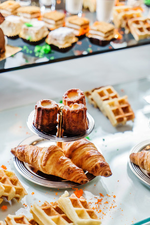 chocolaty: pastries on the brunch table Stock Photo