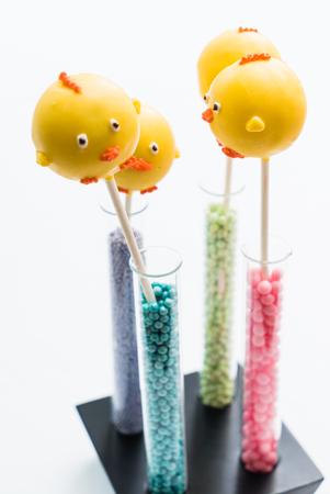 cake pops: Easter cake pops Stock Photo