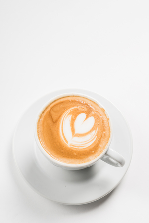 capucinno: Latte with Heart Design Stock Photo