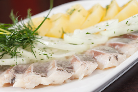 seafish: Marinated herring fillets