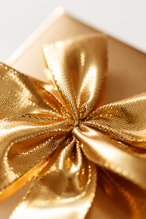 gold bow: present with gold bow