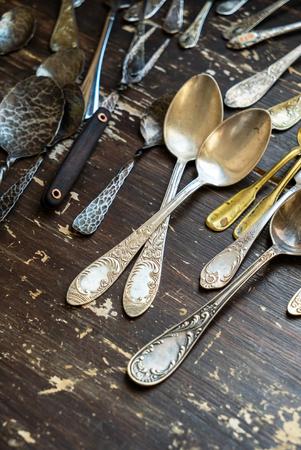 grunge silverware: vintage forks and spoons