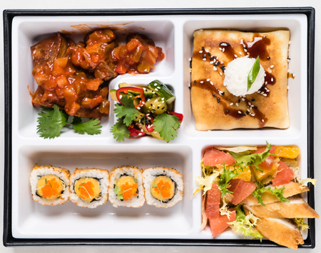 japanese meal: Japanese Meal in a Box (Bento)
