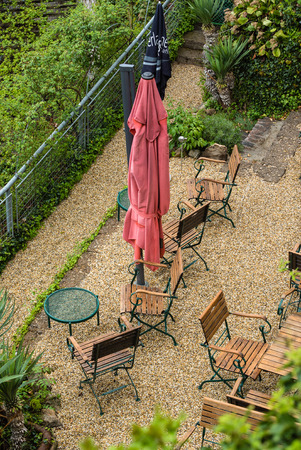 outdoor cafe: outdoor cafe Stock Photo
