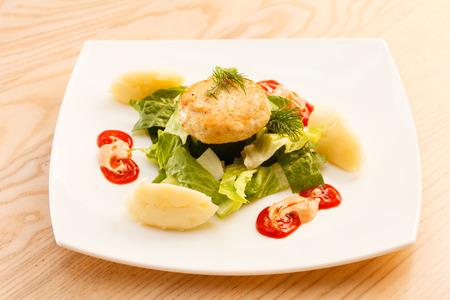 pure de papa: chuleta de pollo con pur� de patatas
