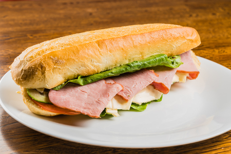 crusty french bread: tasty sandwich