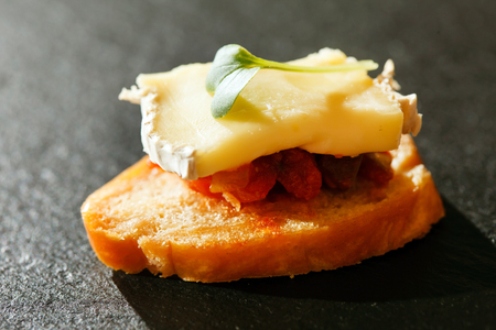 canape: canape with cheese
