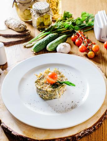 ensalada rusa: ensalada rusa Foto de archivo
