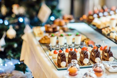 chocolaty: different pastries Stock Photo