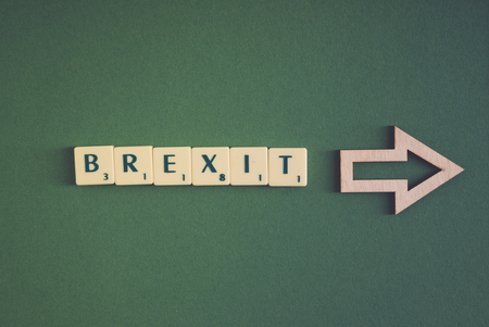 Brexit Text on Green background