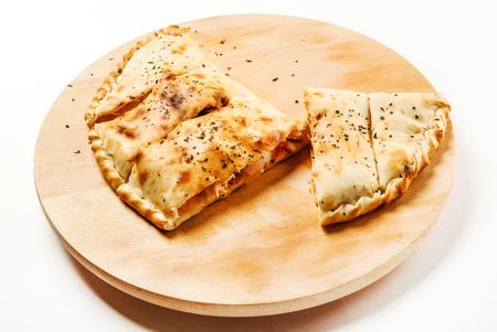 calzone pizza Foto de archivo - 128518956
