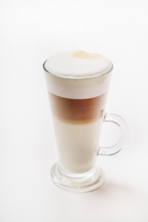 macchiato: latte macchiato coffee Stock Photo