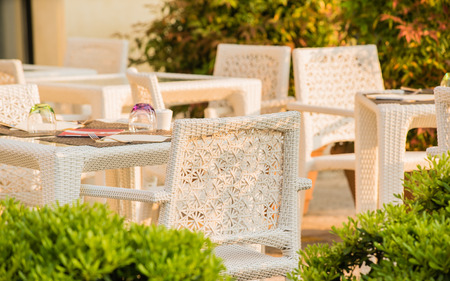 porch scene: outdoor cafe Stock Photo
