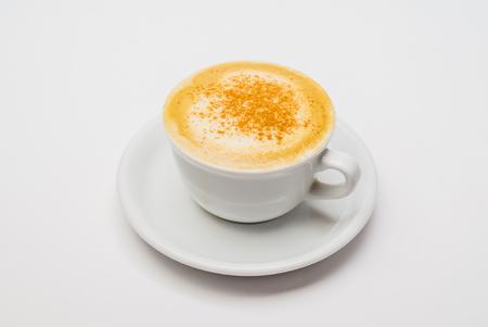 cappucino: cappucino on the white