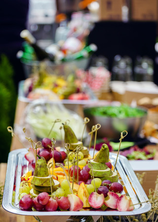 outdoor catering Stock Photo