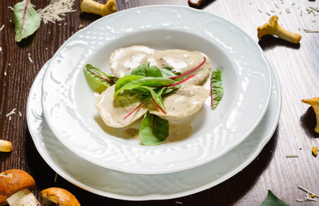 ravioli: ravioli with mushrooms