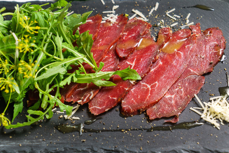 beef carpaccio Standard-Bild