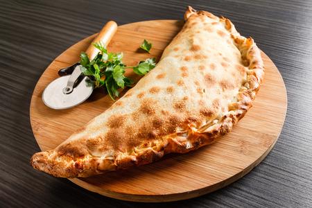 calzone pizza Stock Photo
