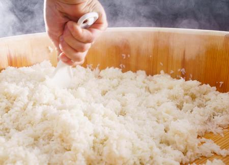 chef making sushi Foto de archivo