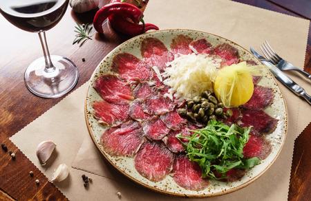 meat carpaccio
