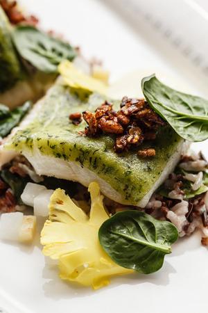 tilapiini: roasted fish
