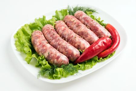 llonganissa: raw sausages Stock Photo