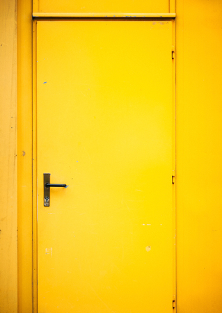 stateroom: yellow door Stock Photo