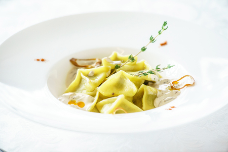 tortellini: ravioli Stock Photo