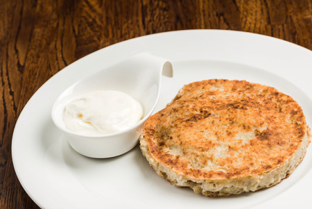 hash: Hash brown with sour cream