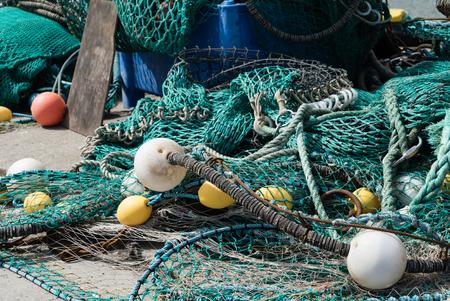 commercial fishing net: fishing net Stock Photo