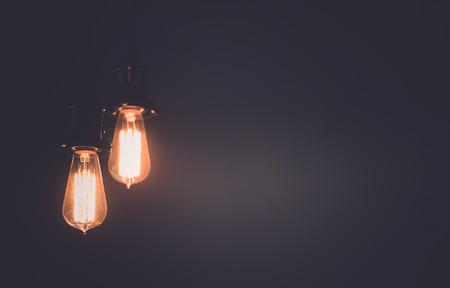 chandelier background: vintage lamps