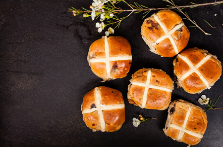 hot cross buns Standard-Bild