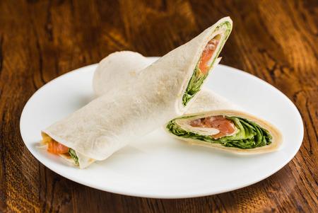 tortilla: tortilla wraps Stock Photo