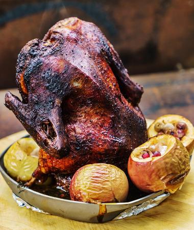 roasting pan: grilled duck
