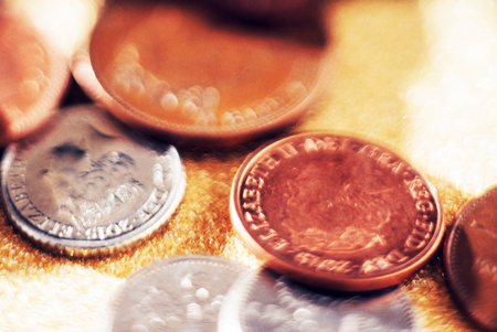 sterling: Pound sterling coins Stock Photo