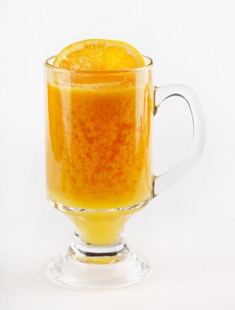 hot orange tea Stock Photo