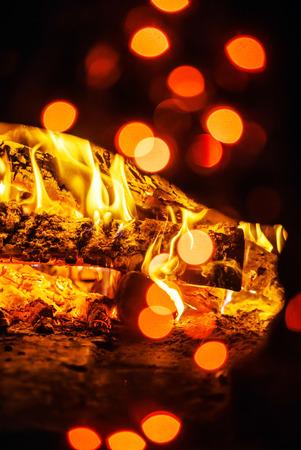 fireplace background Stock Photo