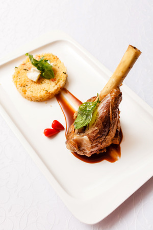 veal: Veal chop with rice