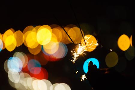holiday sparkler Stock Photo