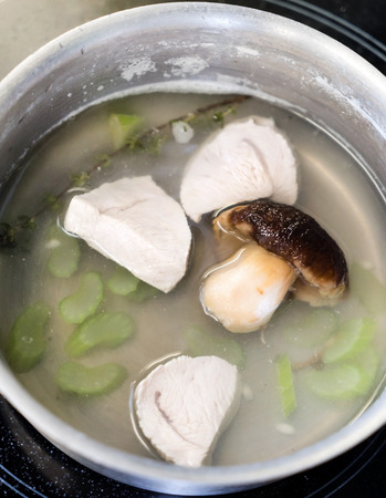 broth with mushroom