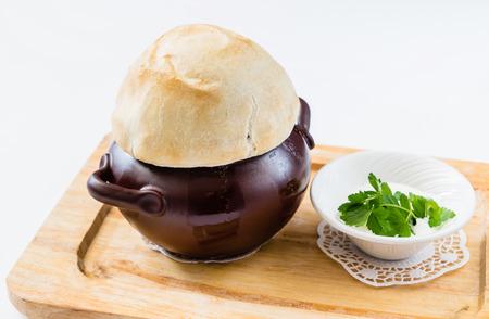 savoury: savoury turkey pot pie Stock Photo
